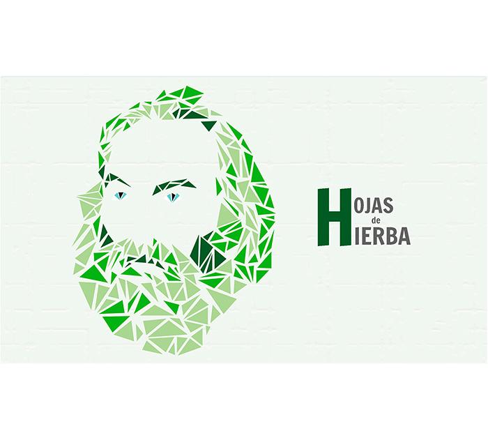 Ilustración original de Santiago Alonso inspirada en «Hojas de hierba», el poemario de Walt Whitman.